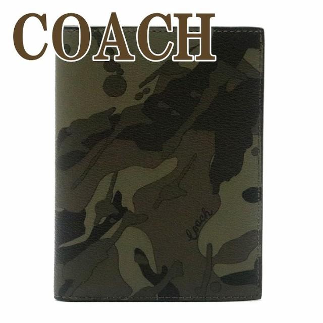 コーチ COACH メンズ パスポートケース レザー カ...