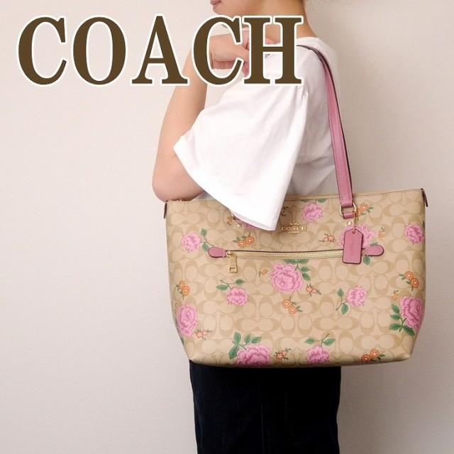 コーチ COACH バッグ トートバッグ レディース ショルダーバッグ シグネチャー ハンドバッグ 花柄 フローラル ピンク 2714IMR68 ブランド