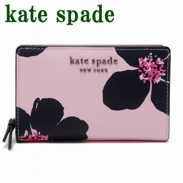 ケイトスペード KateSpade 財布 二つ折り財布 サフィアーノ レザー ピンク 花 フローラル WLRU6133-677 ブランド 人気