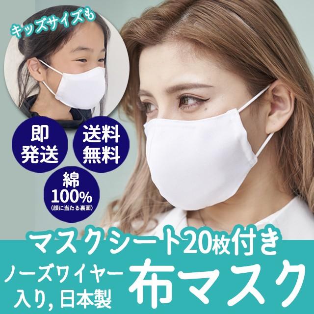 不織布シート20枚付き 布マスク 在庫あり 即納【3...