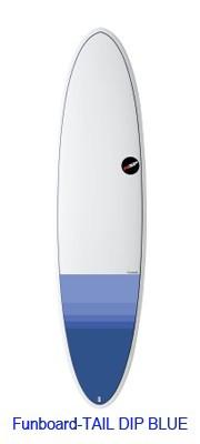 NSP Surfboard EELEMENTS FUN 7.6 Tail DIP Blue...