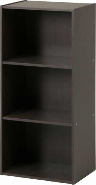 カラーボックス 3段 HP943 ブラウン fj-935...