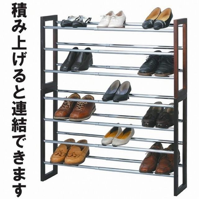 【即納】シューズラック 伸縮式 4段 genco-na-nk-...