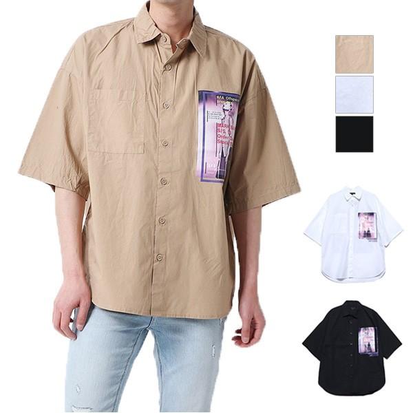 シャツ メンズ 半袖 5分袖 カジュアル おしゃれ ...