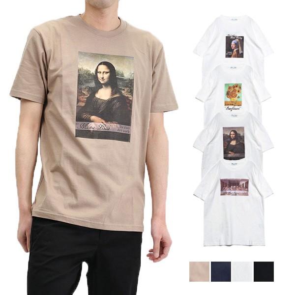 Tシャツ カットソー メンズ 半袖 おしゃれ プリン...