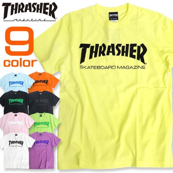 THRASHER Tシャツ ロゴプリント 半袖Tシャツ スラ...