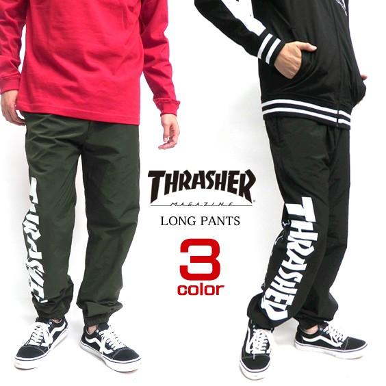 THRASHER パンツ ロゴ ナイロンパンツ スラッシャ...