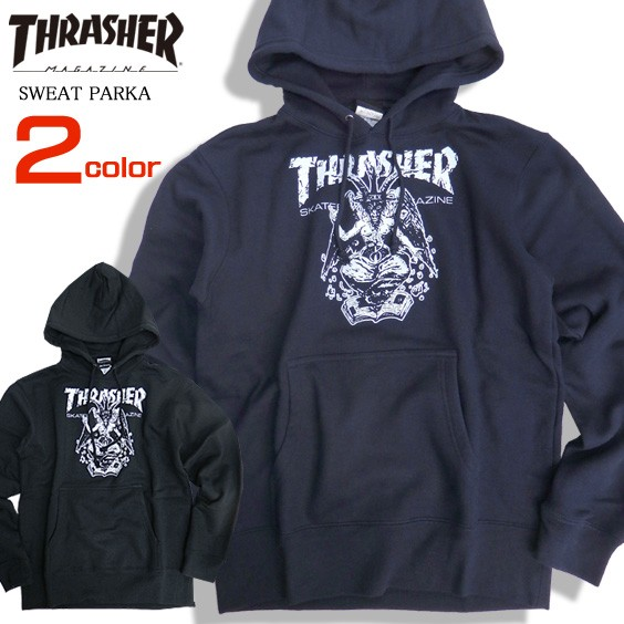 THRASHER パーカー バフォメット スウェットパー...