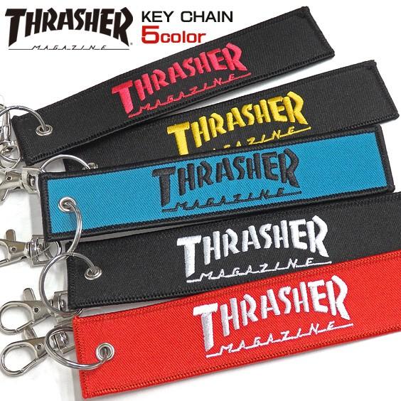 THRASHER キーホルダー ロゴテープ キーチェーン ...