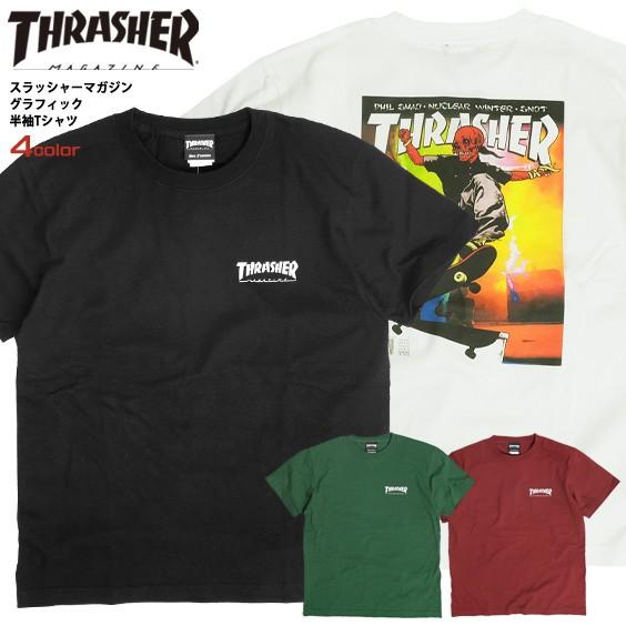 THRASHER Tシャツ スラッシャー マグロゴ グラフ...