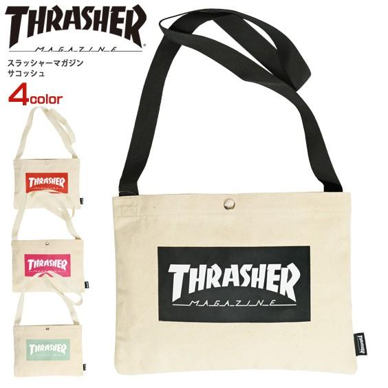 THRASHER バッグ スラッシャー サコッシュ マグロ...