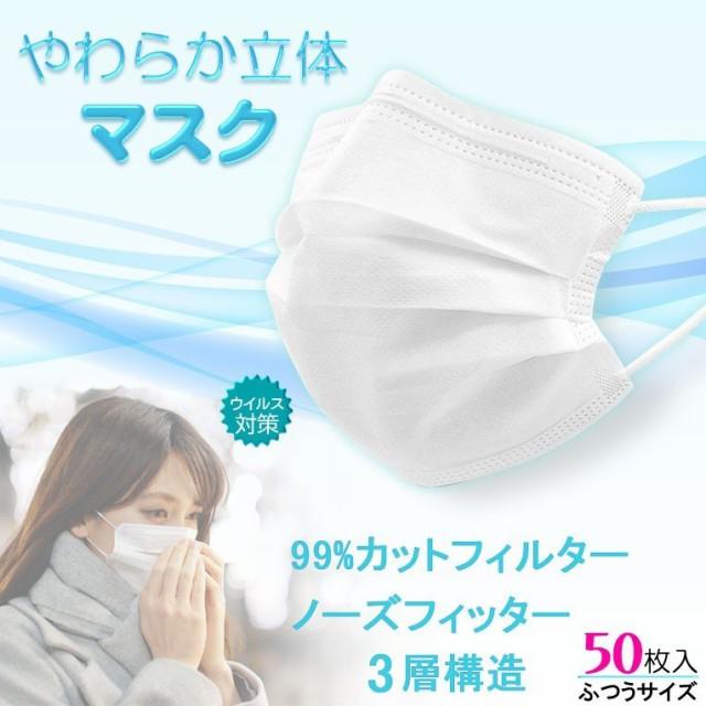 送料無料 マスク 在庫あり【やわらか立体マスク...