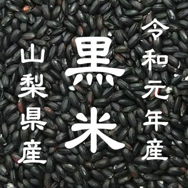 令和元年産 山梨県産 黒米 お徳用 900gパック 投...