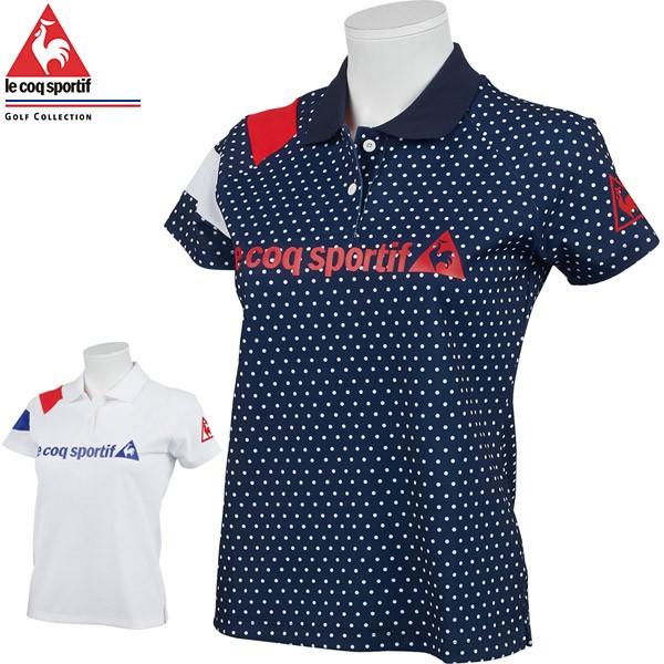 ルコック レディース ゴルフウェア ソレイユ・スワソン カノコ 半袖 ポロシャツ QGWQJA02 2021年春夏モデル M-LL