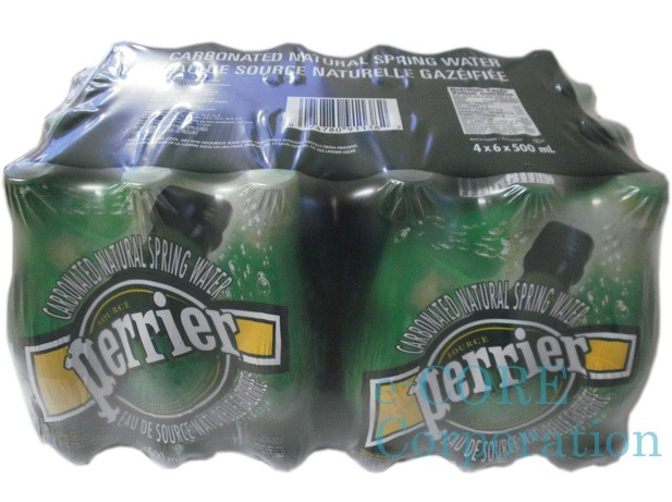 Perrier ペリエ 天然炭酸水 500mlx24本 ペット...