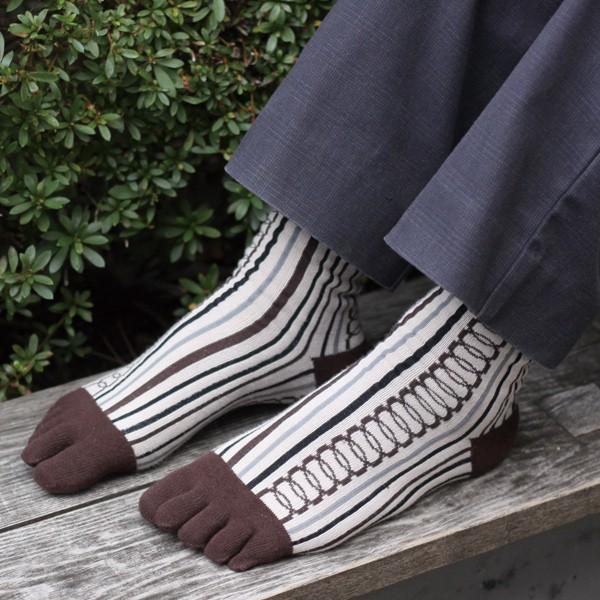 京都くろちく 5本指文化足袋・紳士用●メンズ靴下...