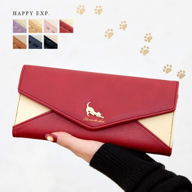【TIMESALE】長財布 財布 レディース 大容量 猫 ...