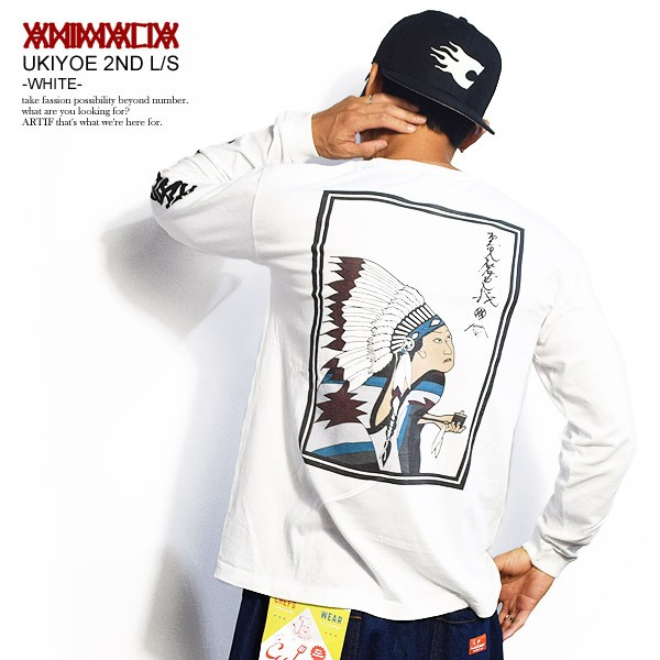 ANIMALIA アニマリア UKIYOE 2ND L/S -WHITE- SPO...