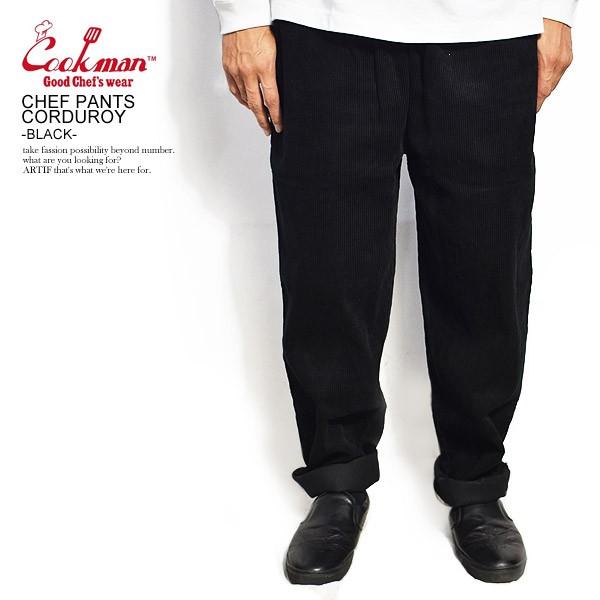 COOKMAN クックマン CHEF PANTS CORDUROY -BLACK-...