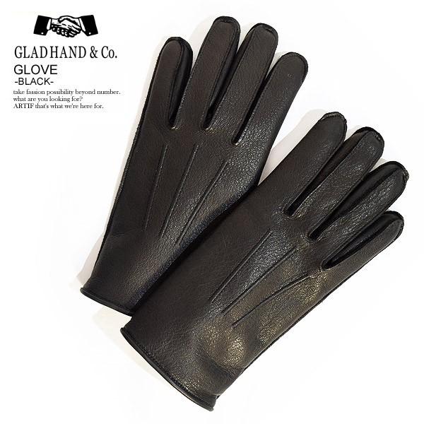 glad hand グラッドハンド leaher glove black メンズ グローブ 手袋