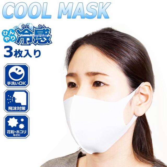 メール便 マスク 冷感 3枚入 ひんやり冷感マスク ...