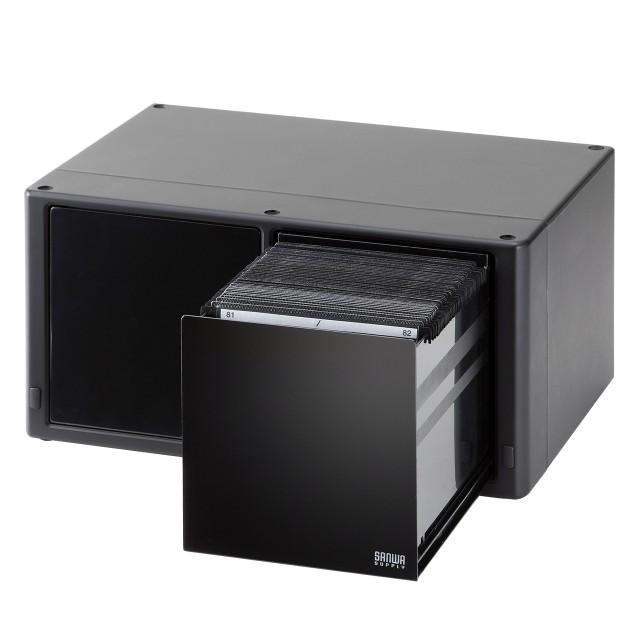 CD DVD 収納ボックス 大容量 160枚収納 自動オー...