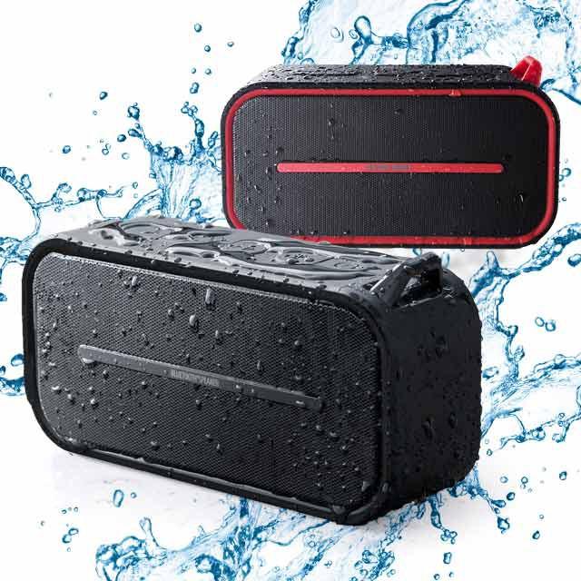 ポータブル Bluetoothスピーカー 防水&防塵 micr...