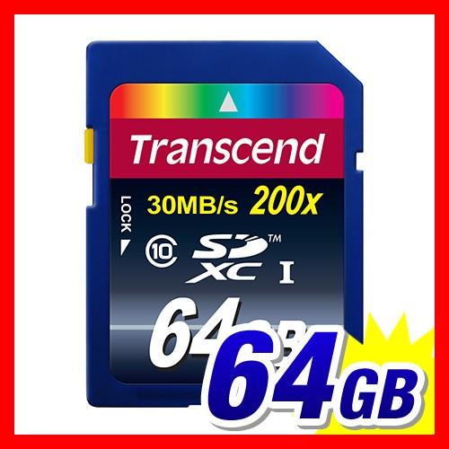 SDカード 64GB Class10 30MB/s SDXCカード Transc...