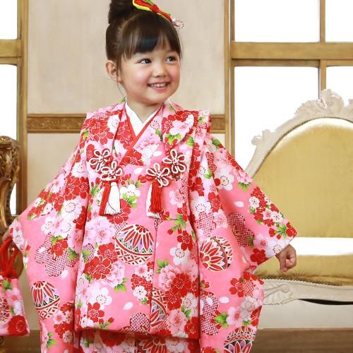【最大3000円OFFクーポン】七五三 着物 3歳 セット 女の子 販売 選べる9柄 被布セット 着物セット