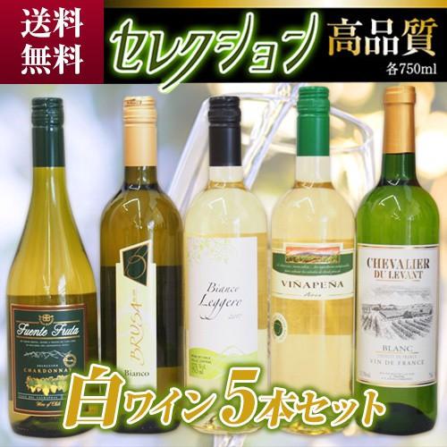 年末セール!セレクション 白ワイン 5本セット (ス...