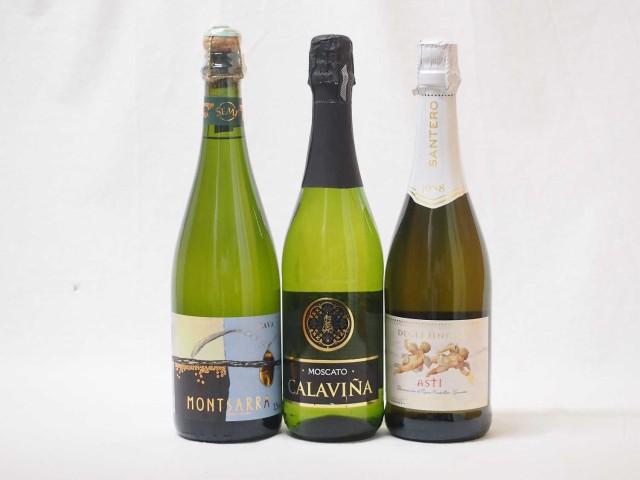 世界のスパークリング白ワイン甘口3本セット(スペ...