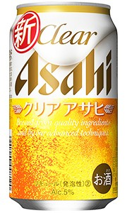アサヒ クリアアサヒ 新ジャンル 350ml缶 バ...