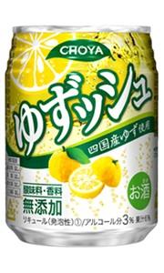 チョーヤ ゆずッシュ 250ml缶 バラ 1本【ミニ...