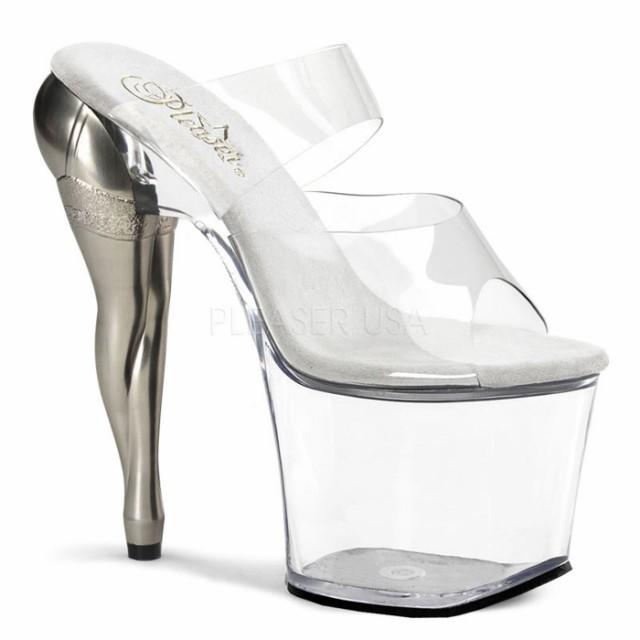 取寄せ靴 送料無料 斬新な女性の脚型ヒール ダブ...