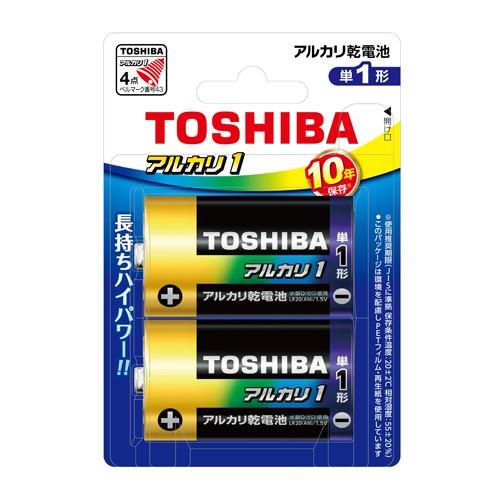 【メール便発送】東芝 アルカリ乾電池 単1形 2本...
