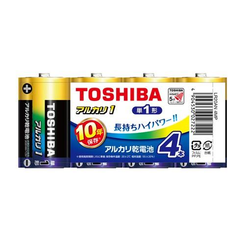 【メール便発送】東芝 アルカリ乾電池 単1形 4本...