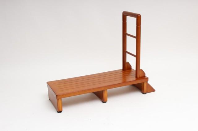 谷村実業 手すり付玄関台 木製 幅90cm TAN-889-90...