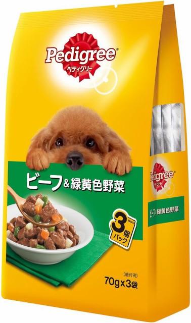 ペディグリー P115 成犬用 ビーフ&野菜 70g×3 ...