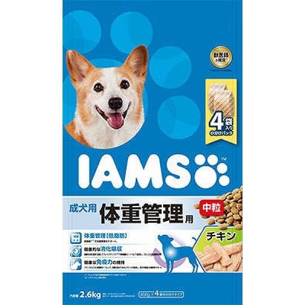 アイムス 成犬用 体重管理用 チキン 中粒 2.6kg ...