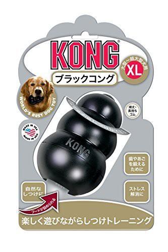 コング 犬用おもちゃ ブラックXL 超大型犬 アダル...