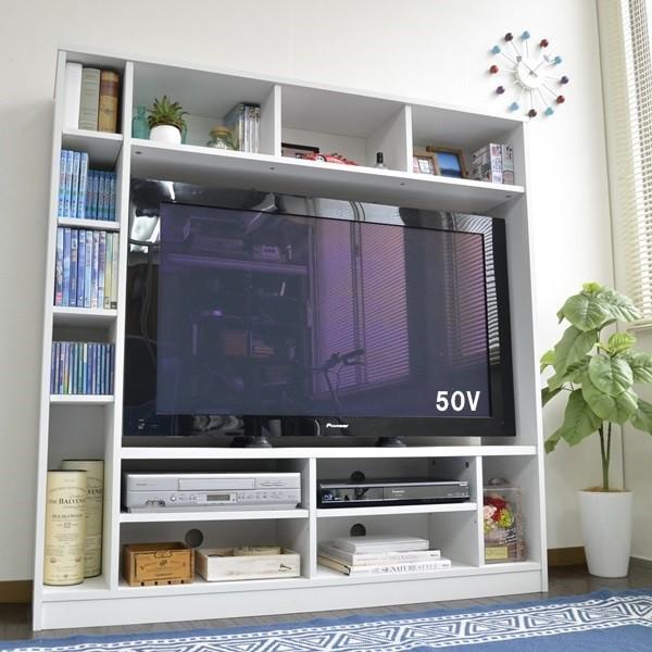 50インチ対応 135幅 テレビ台 壁面 収納ゲート型 ...