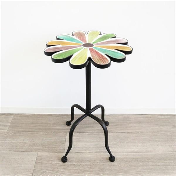 フラワーランプテーブル カラフル テーブル サイ...