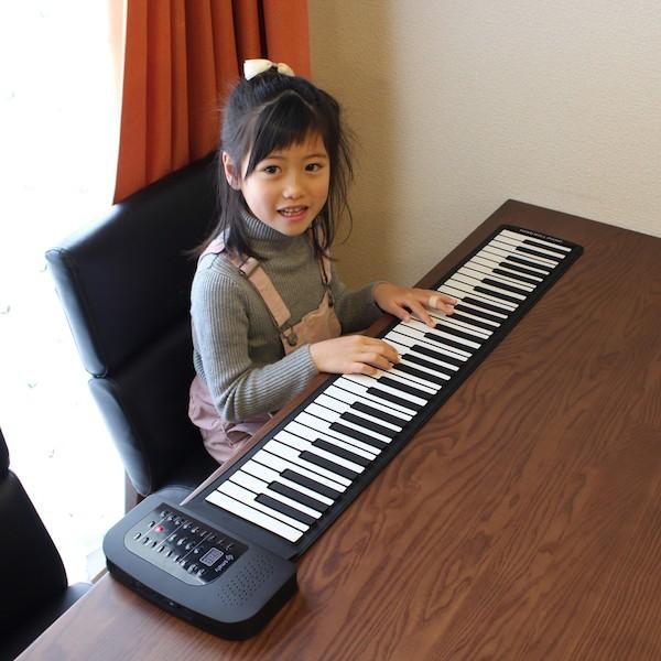 ロールアップピアノ61鍵盤 キーボード・ピアノ ピ...