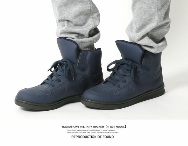 ハイカットスニーカー メンズ 白 黒 靴 イタリア...
