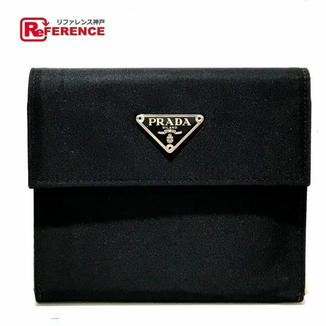 あす着 PRADA プラダ M510 ロゴプレート 短財布 ...