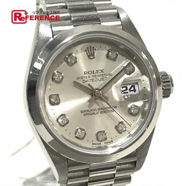 online store 13bea 53144 あす着ロレックス 69166G デイトジャスト オイスターパーペチュアル 無垢 10Pダイヤ 腕時計