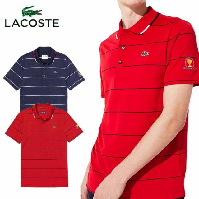 ラコステ LACOSTE PRESIDENTS CUP ピンボーダーポロ DH0428L 半袖 ポロシャツ メンズ