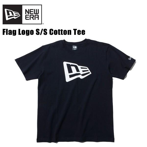 ニューエラ(NEW ERA) コットン Tシャツ フラッグロゴ 《Black/White》 半袖Tシャツ/男性用/[AA-2]