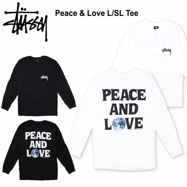 ステューシー(STUSSY) Peace & Love L/SL Tee ロ...