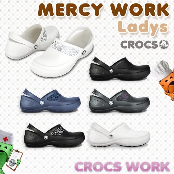 【16%OFF】【送料無料】CROCS MERCY WORK Ladys ...